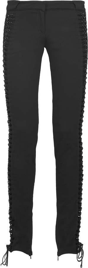 Roberto Cavalli Lace-up slim-fit pants