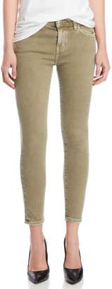 Current/Elliott Covert Green Stiletto Skinny Jeans