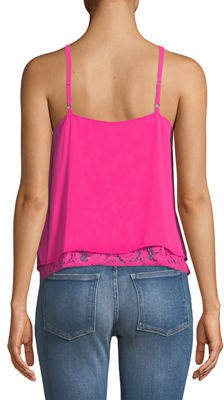 Rachel Roy Double-Layer Lace Cami Top