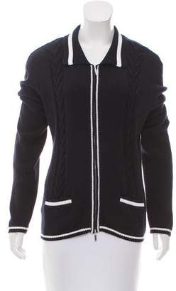 Façonnable Zip-Up Collared Cardigan