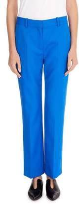 Victoria Beckham Victoria Flat-Front Slim Straight-Leg Ankle-Length Wool Pants