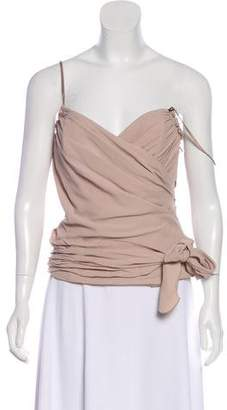 Galliano Ruffle-Trimmed Sleeveless Top w/ Tags