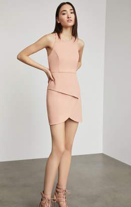 BCBGMAXAZRIA Ely Lace-Up Halter Dress