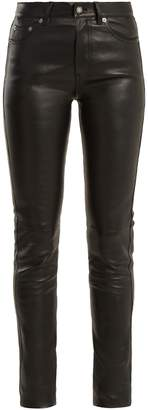 Saint Laurent Mid-rise skinny leather trousers