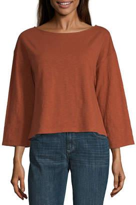 A.N.A Womens Boat Neck Long Sleeve T-Shirt