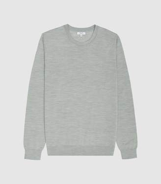 73402c576519 Reiss Wessex - Merino Wool Jumper in Mid Sage