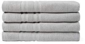 Melange Home Solid Cotton Bath Towel- Set of 4