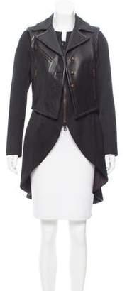 Rag & Bone Leather Paneled High-Low Jacket
