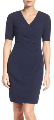 Women's Adrianna Papell Jet Stretch Sheath Dress $150 thestylecure.com