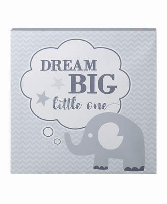 "Lillian Rose Dream Big"" Elephant Nursery Canvas"