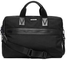 Michael Kors Large Leather-Trim Nylon Briefcase
