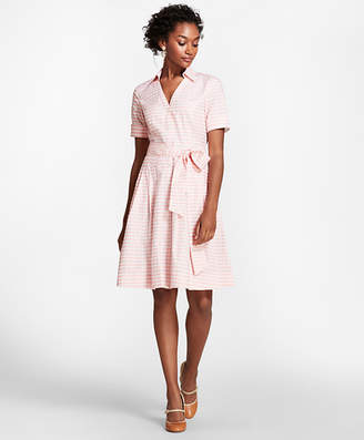 Brooks Brothers Gingham Cotton Shirt Dress