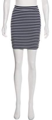 Alexander Wang Striped Mini Pencil Skirt