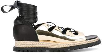 Sacai lace up espadrille sandals