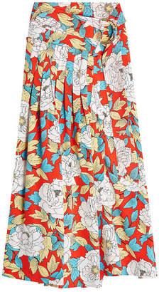 Diane von Furstenberg D Ring Printed Silk Midi Skirt