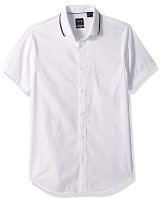 Armani Exchange A|X Men's Button Down Shirt with Collar Detailing