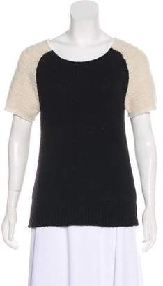 Halston Short Sleeve Knit Top