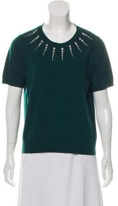 Marc Jacobs Embellished Short Sleeve Sweater