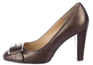 MICHAEL Michael Kors Round-Toe Buckle-Accented Pumps