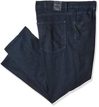 Nautica Men's Big and Tall Streight Fit Deep Dark Stretch 5 Pocket Jean