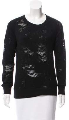 IRO Distressed Crew Neck Sweater