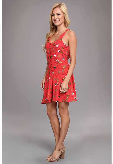Angie Printed Button-Up Dress