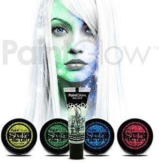 PaintGlow Glitter Shaker & Fix Gel (5 Pack) glitter face & body paint dust