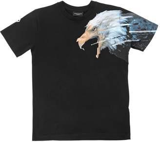 Marcelo Burlon County of Milan Eagle Print Cotton Jersey T-Shirt