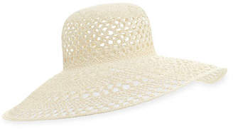 Inverni Iris Perforated Straw Sun Hat, Size 57