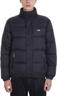 Fila Black Nylon Bomber Jacket
