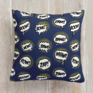 Kaboom Square Pillow