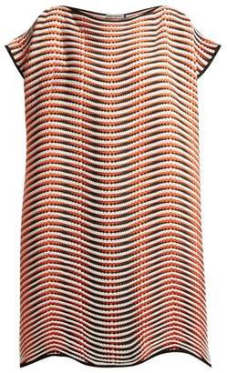 Issey Miyake Pleated Wave Hem Tunic - Womens - Orange Multi