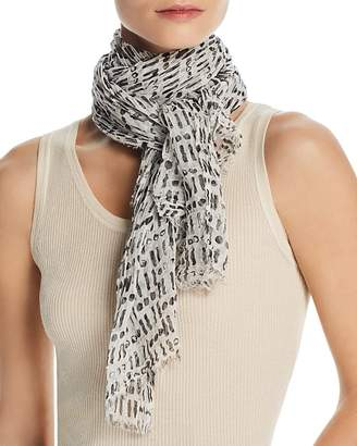 Eileen Fisher Textured Geometric-Print Scarf