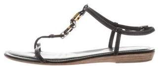 Tod's Leather T-Strap Sandals