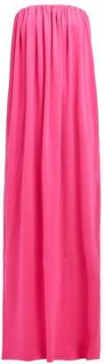 Calvin Klein Strapless Wool Jersey Column Gown - Womens - Pink