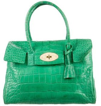 Mulberry Alligator Bayswater Bag $2,800 thestylecure.com