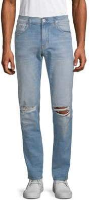 Hudson Distressed Slouchy Skinny Jeans