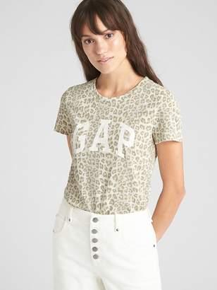 Gap Logo Leopard Print Crewneck T-Shirt