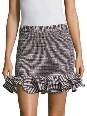 Petersyn Barrett Ruffle Mini-Skirt