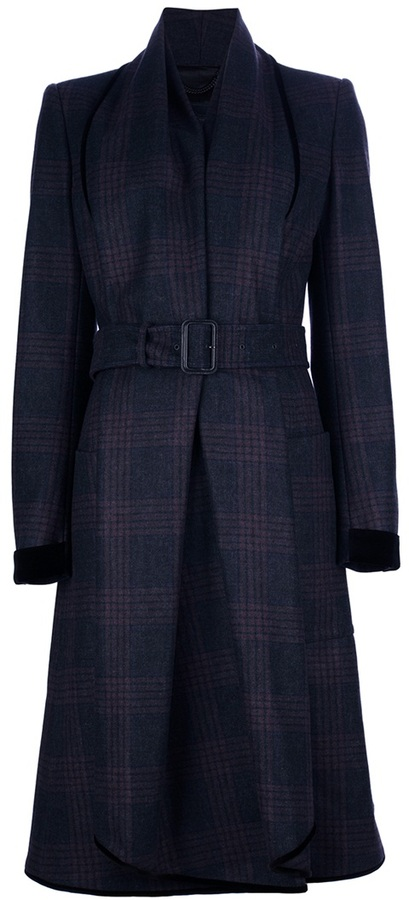 Burberry belted mid length coat