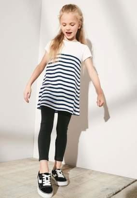 Next Girls Navy Stripe Dress And Legging Set (3-16yrs)