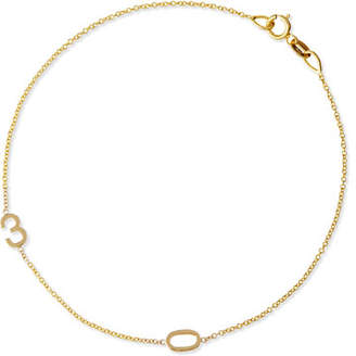 Maya Brenner Designs Mini 2-Number Bracelet, Yellow Gold