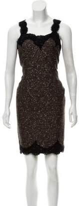 Cynthia Rose Tweed Sleeveless A-Line Dress