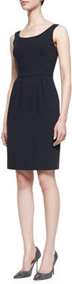 Armani Collezioni Midnight Tank Dress with Seamed Waist, Navy