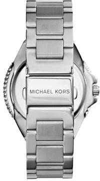 Michael Kors Silver Color Stainless Steel Camille Three-Hand Glitz Watch