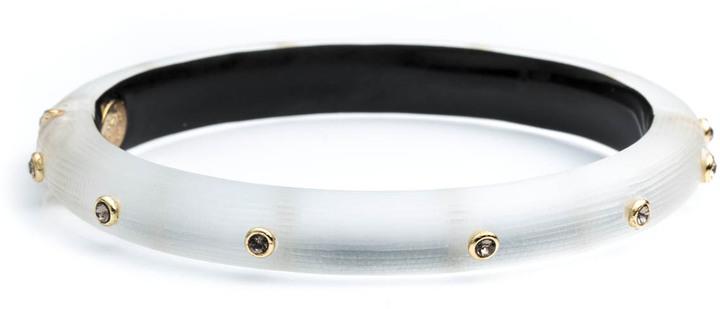 Alexis BittarCrystal Rivet Hinged Bracelet