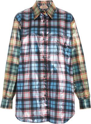 N°21 N 21 Plaid Long Sleeve Shirt