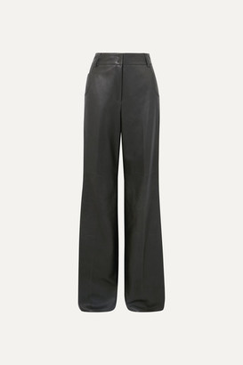 Akris Wide-leg Leather Pants - Green