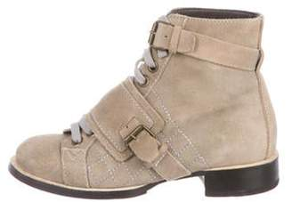 Chanel Quilted Suede Ankle Boots multicolor Quilted Suede Ankle Boots