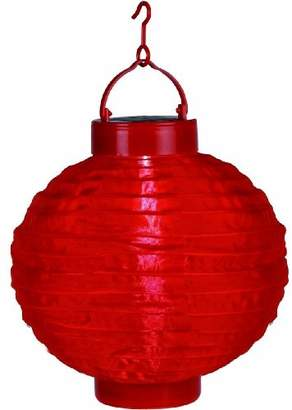 Star 30 x 20cm LED-Solar-Lampion with Solar Panel and Rechargeable Battery - Red